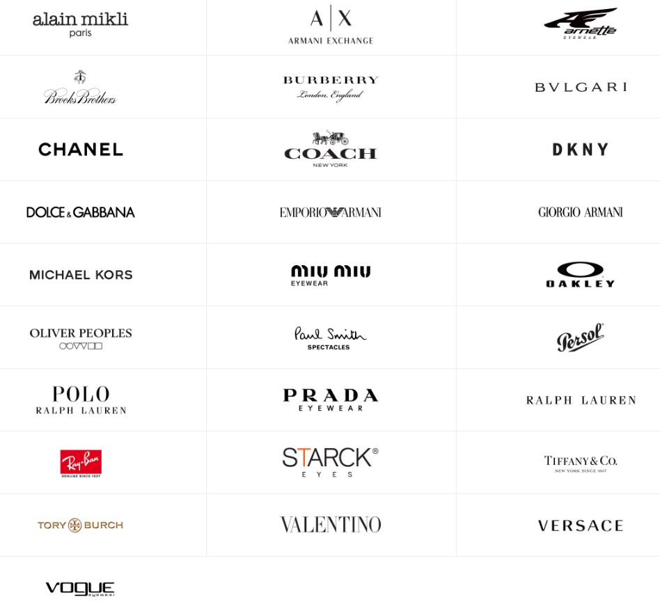 Luxottica Brands as of Nov 2017